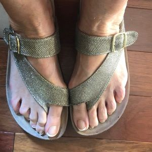 White Mountain Gold Sandals